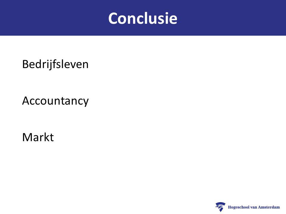 Conclusie Bedrijfsleven Accountancy Markt