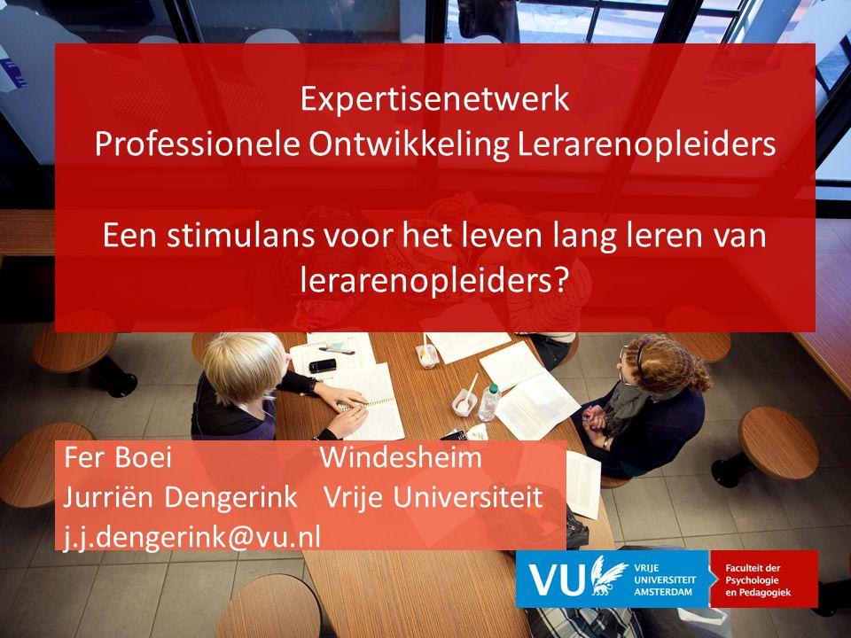 Expertisenetwerk Professionele Ontwikkeling Lerarenopleiders Een stimulans voor het leven lang leren van lerarenopleiders.