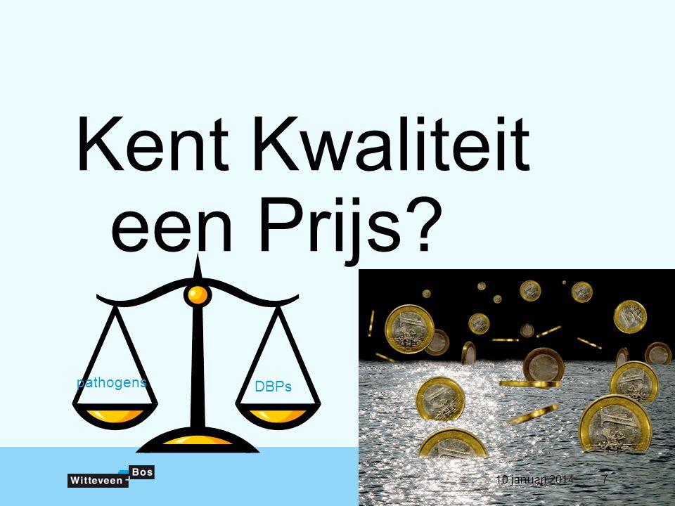 Kent Kwaliteit een Prijs pathogens DBPs 10 januari 20147