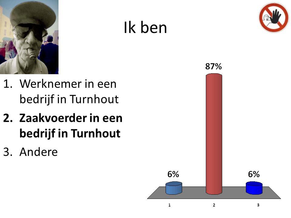 NO P Ik ben 1.Werknemer in een bedrijf in Turnhout 2.Zaakvoerder in een bedrijf in Turnhout 3.Andere