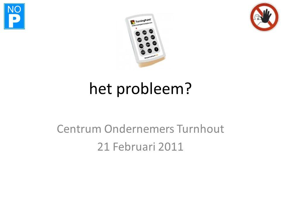 NO P het probleem Centrum Ondernemers Turnhout 21 Februari 2011