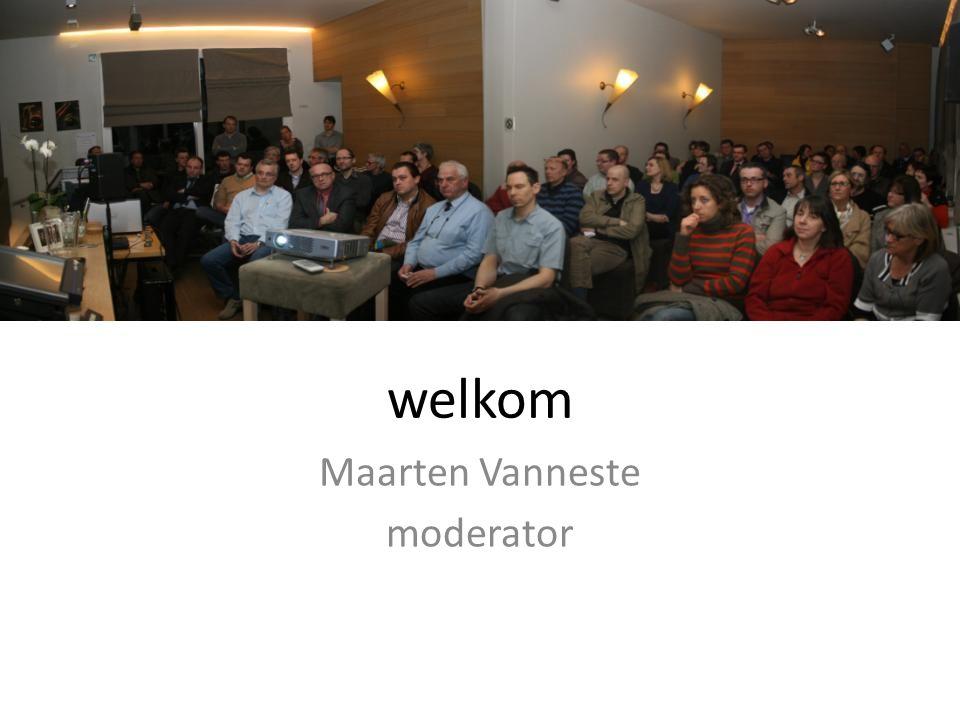 NO P welkom Maarten Vanneste moderator