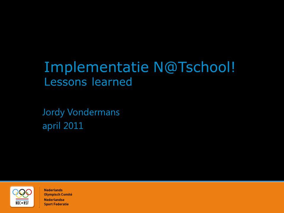 Jordy Vondermans • (T)E-learningadviseur NOC*NSF • Beheerder N@Tschool.