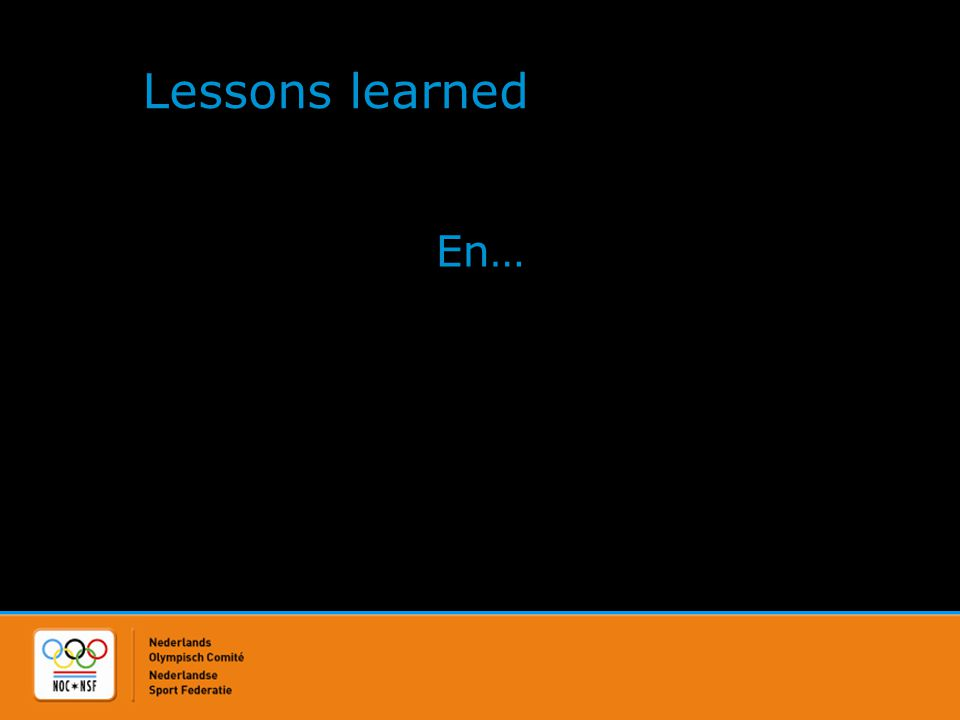 Lessons learned En…
