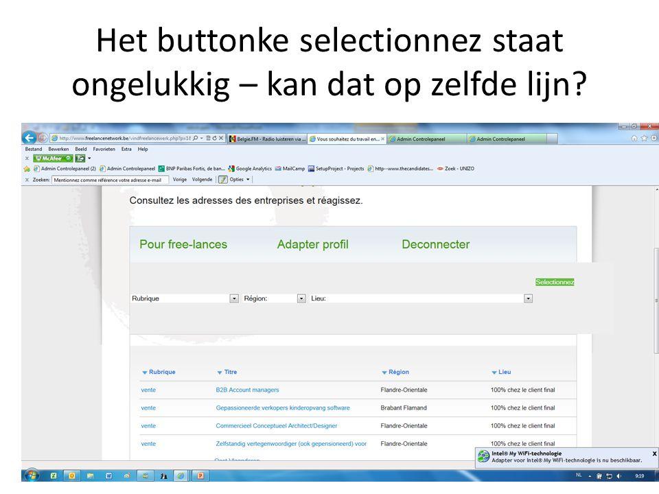 Adapter mission als men zijn job wil aanpassen staat alles in het nederlands