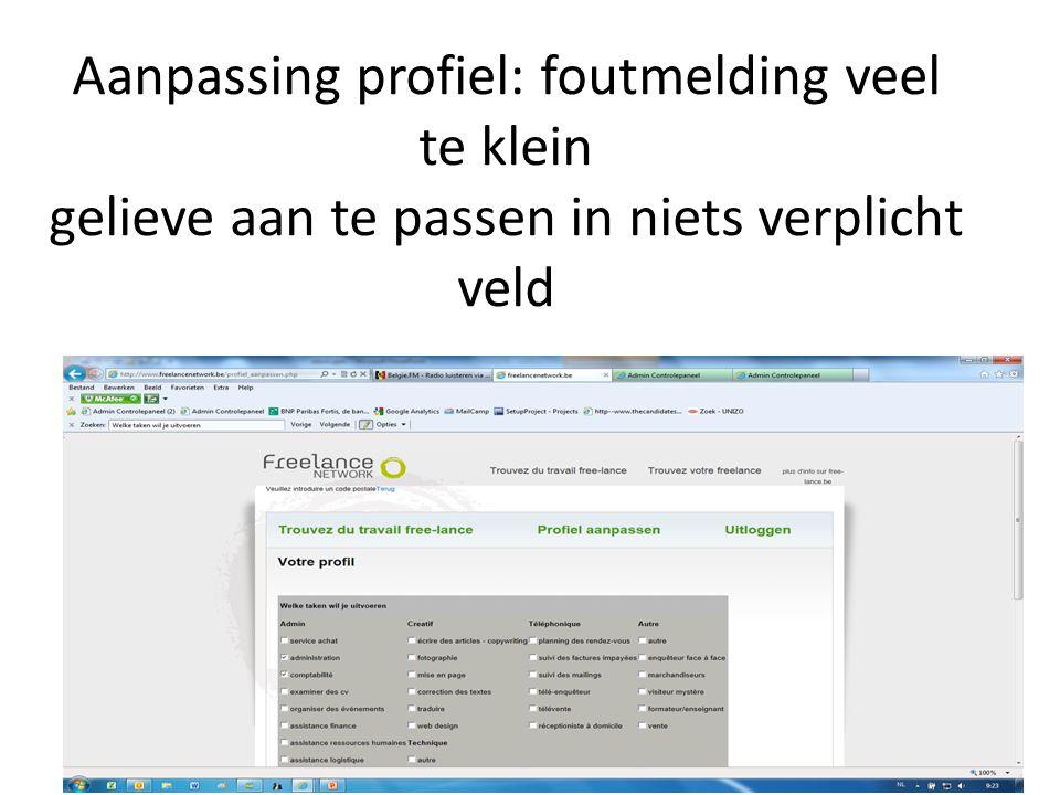 Na aanpassing geeft hij terug dit in het Nederlands zet gewoon: les modifications sont acceptées.