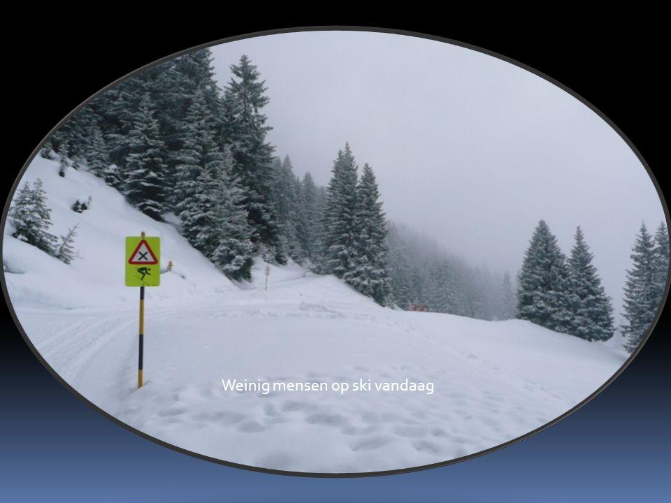 Weinig mensen op ski vandaag