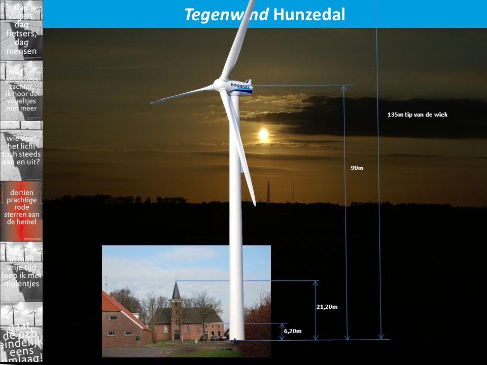 Tegenwind Hunzedal 6,20m 21,20m 90m 135m tip van de wiek
