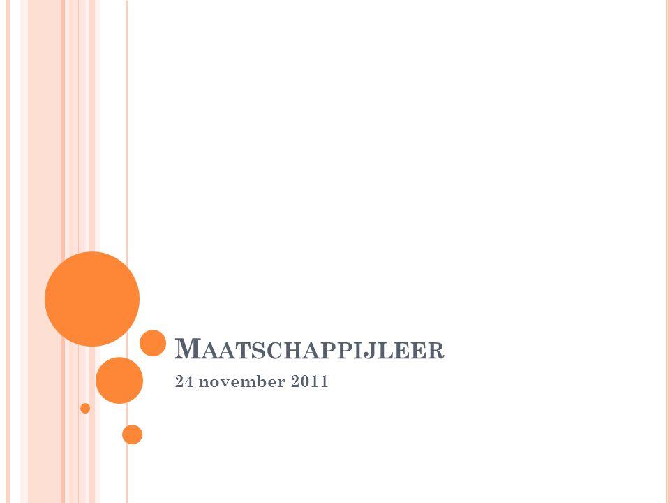 M AATSCHAPPIJLEER 24 november 2011