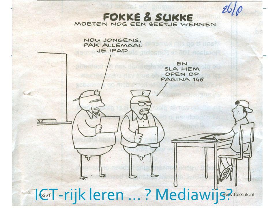 ICT-rijk leren … Mediawijs