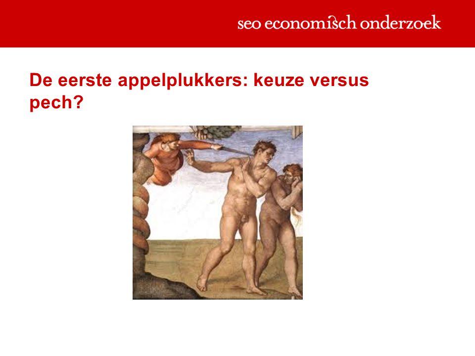 De eerste appelplukkers: keuze versus pech?