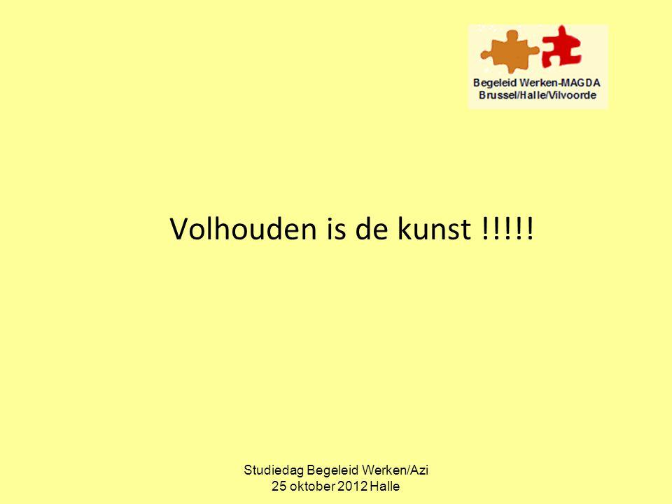 Studiedag Begeleid Werken/Azi 25 oktober 2012 Halle Volhouden is de kunst !!!!!