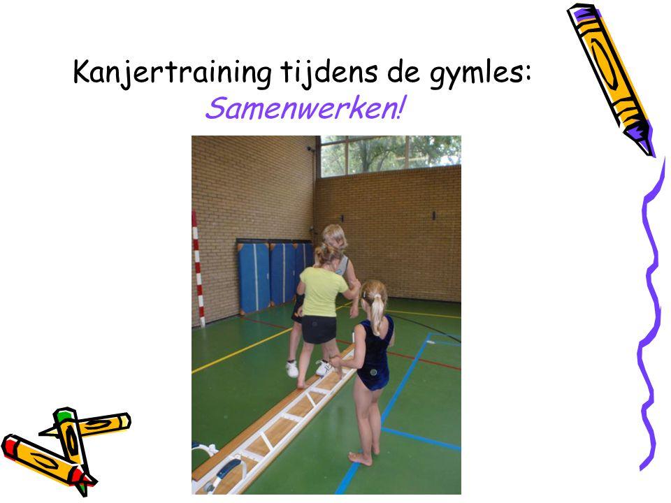 Kanjertraining tijdens de gymles: Samenwerken!