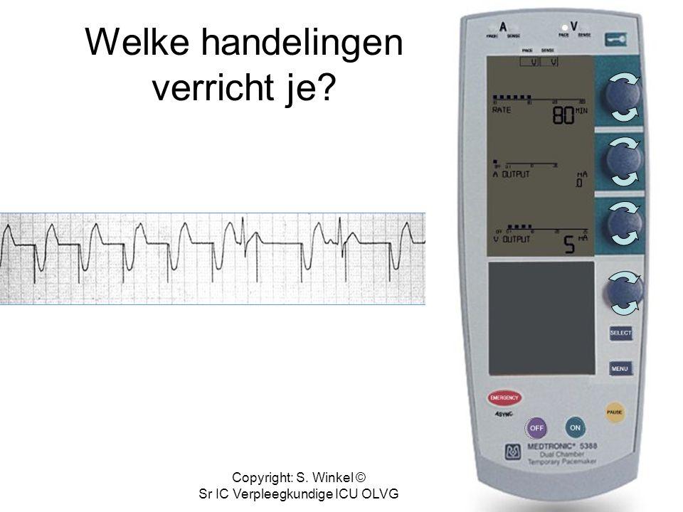 Copyright: S. Winkel © Sr IC Verpleegkundige ICU OLVG Trouble shooting