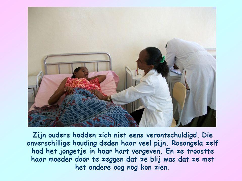 Ik herinner me een Afrikaanse moeder. Ze had meegemaakt dat haar dochtertje Rosangela een oog kwijtraakte doordat een agressief jongetje haar stak met