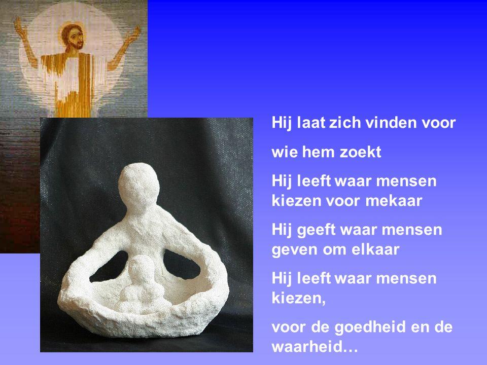 8 't is zalig Pasen te vieren als mensen Zijn verhaal weten te beleven met elkaar.