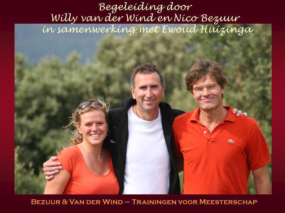 Begeleiding door Willy van der Wind en Nico Bezuur in samenwerking met Ewoud Huizinga Bezuur & Van der Wind – Trainingen voor Meesterschap
