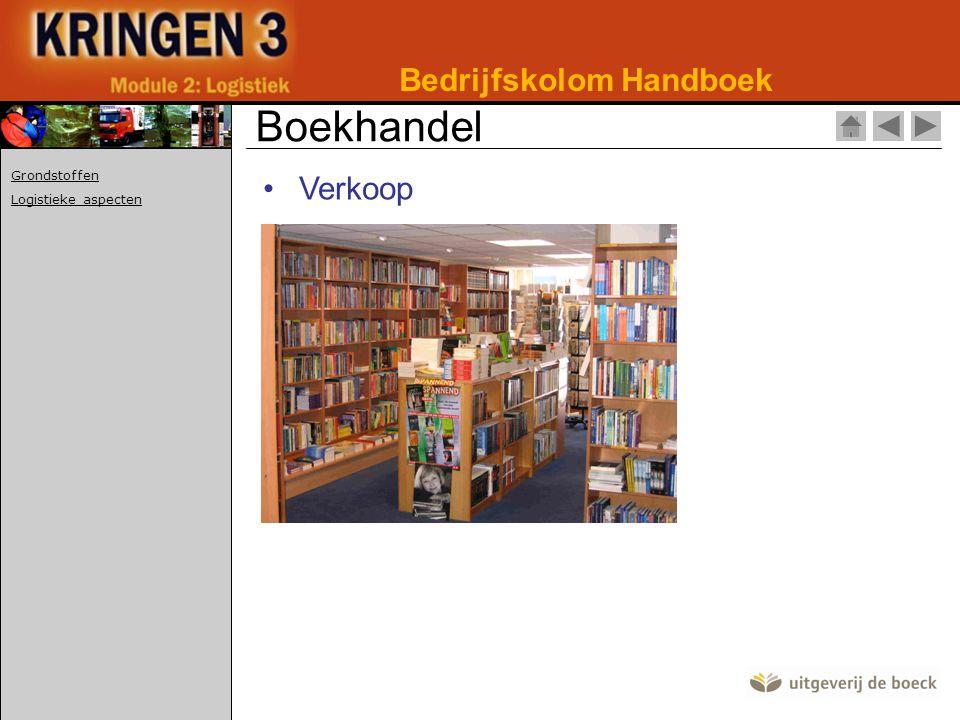 •Verkoop Bedrijfskolom Handboek Boekhandel Grondstoffen Logistieke aspecten