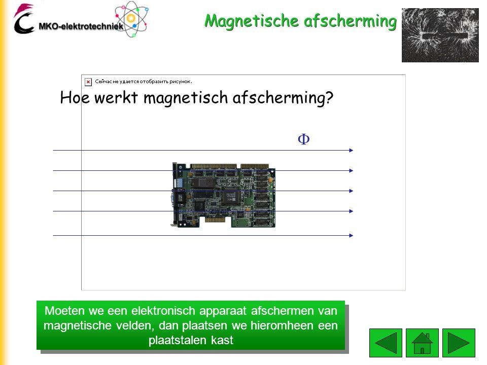 Magnetische afscherming Het magnetische veld kiest de weg van de minste weerstand en zal door het ijzer gaan lopen. Hoe werkt magnetisch afscherming?