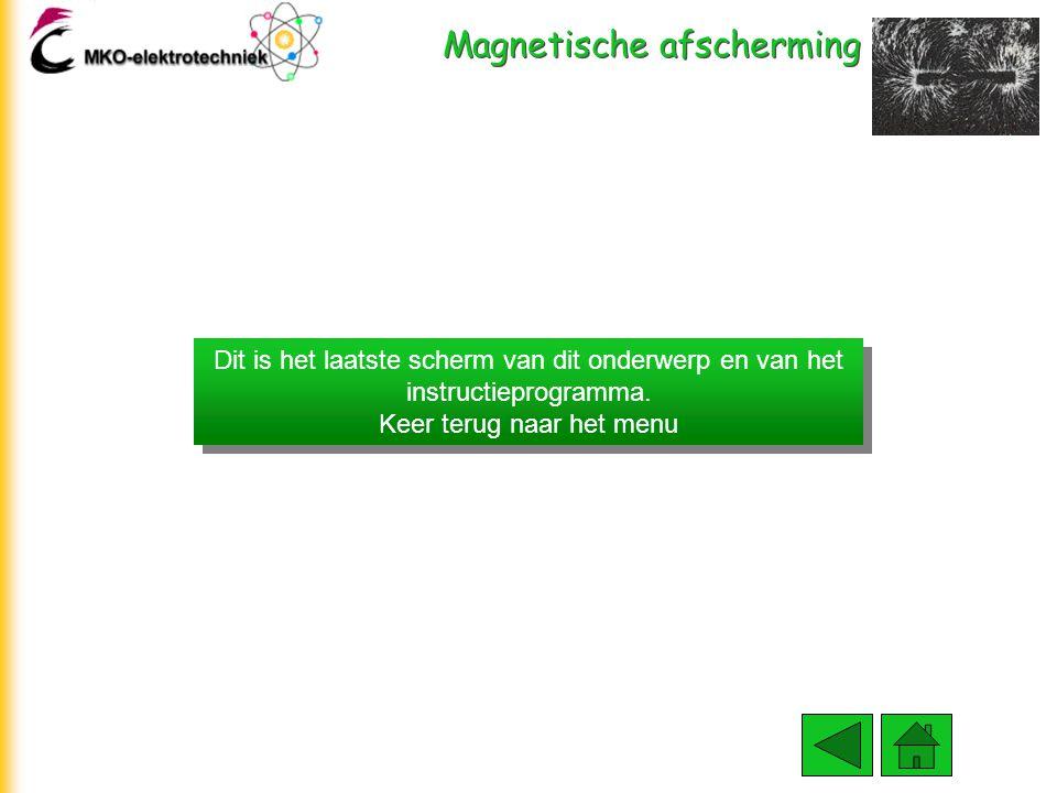 Magnetische afscherming Goed magnetisch afschermingsmateriaal heeft een hoge  r waarde i.v.m. het goed geleiden van het magnetische veld. We gebruike