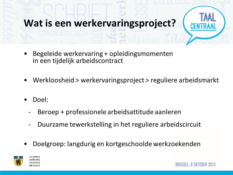 Wat is een werkervaringsproject.