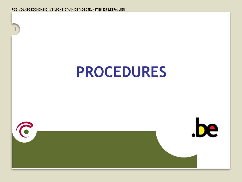 FOD VOLKSGEZONDHEID, VEILIGHEID VAN DE VOEDSELKETEN EN LEEFMILIEU 12 Onvolledige procedures Coderen wat er effectief gebeurd is … • in geval van incisie alleen:  codeer de incisie • in geval van opening van een lichaamsholte:  codeer de exploratie van die lichaamsholte (chirurgisch of endoscopisch)  Aandacht: een correct uitgevoerde procedure die het beoogde resultaat niet oplevert  onvolledige procedure én  complicatie!