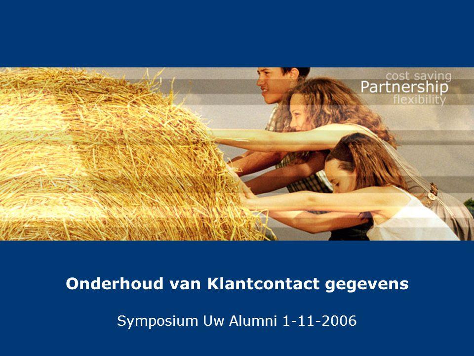 Onderhoud van Klantcontact gegevens Symposium Uw Alumni 1-11-2006