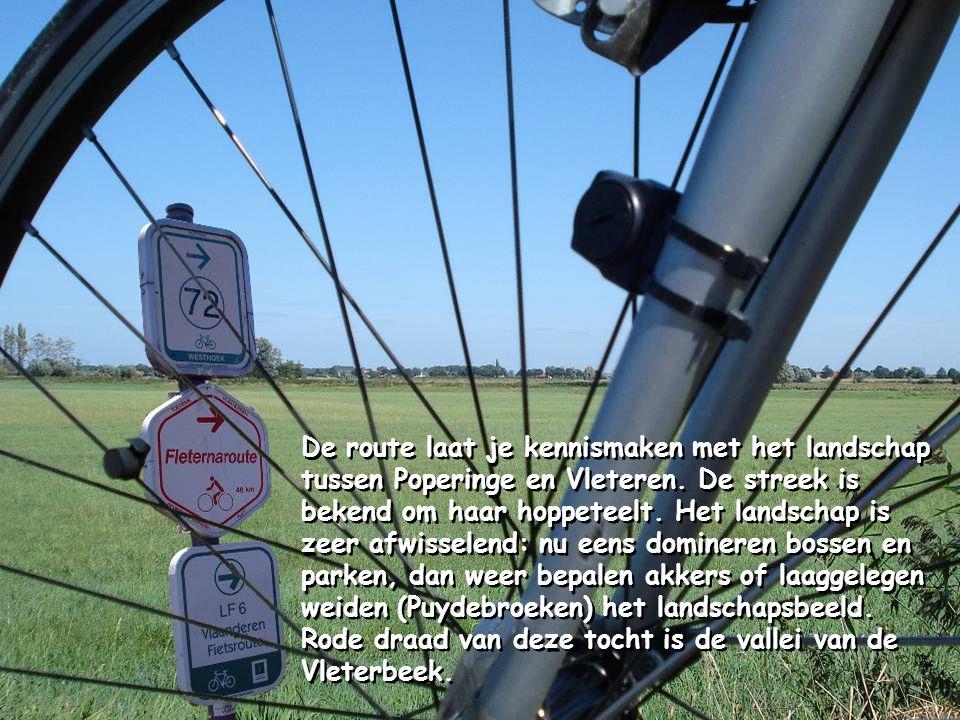 De route laat je kennismaken met het landschap tussen Poperinge en Vleteren.