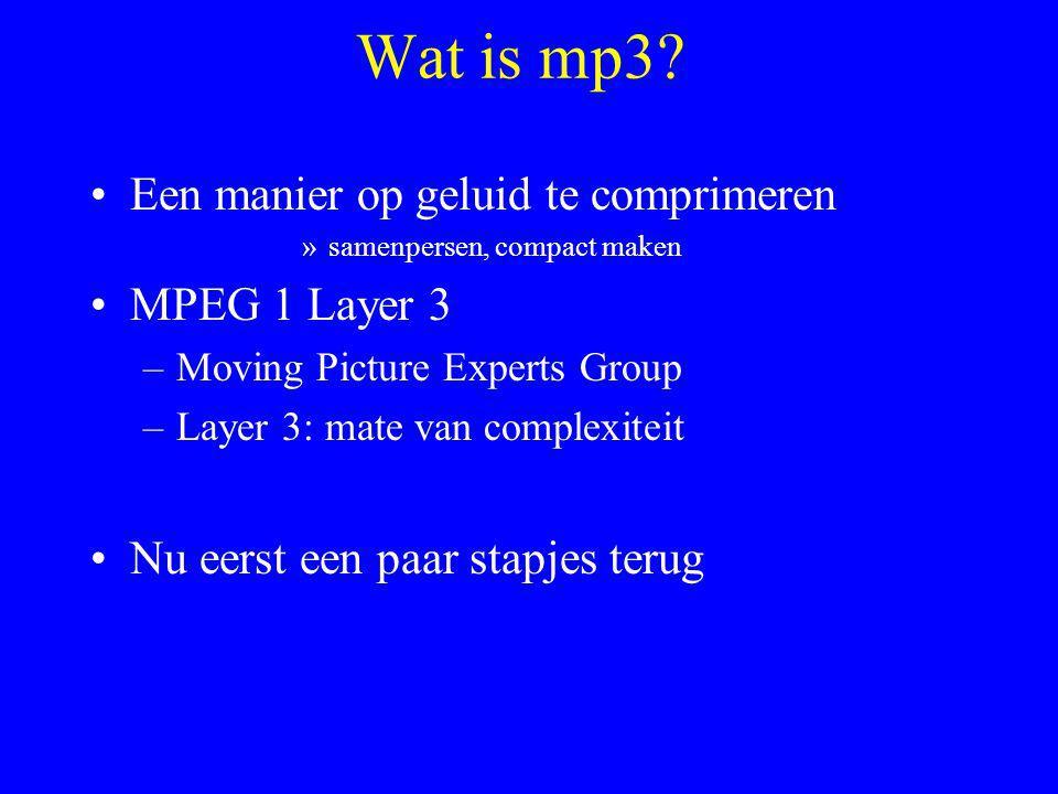 Wat is mp3.