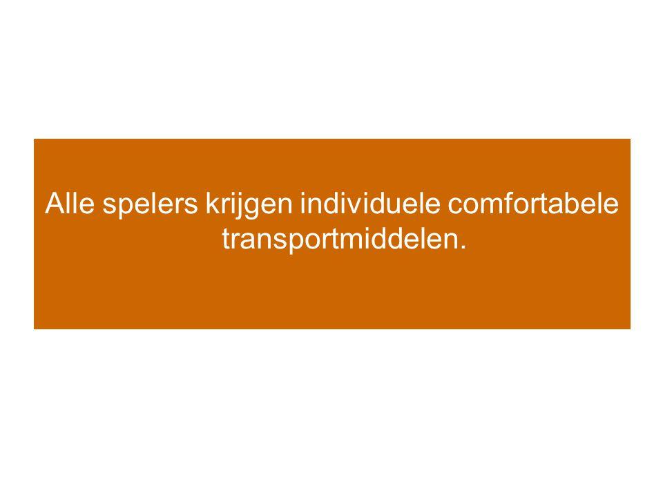 Alle spelers krijgen individuele comfortabele transportmiddelen.