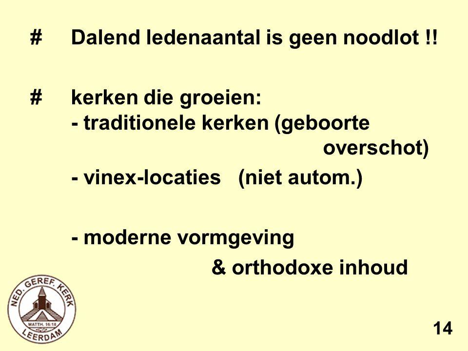 # Dalend ledenaantal is geen noodlot !.