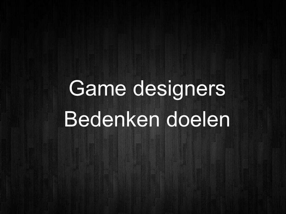 Game designers Bedenken doelen