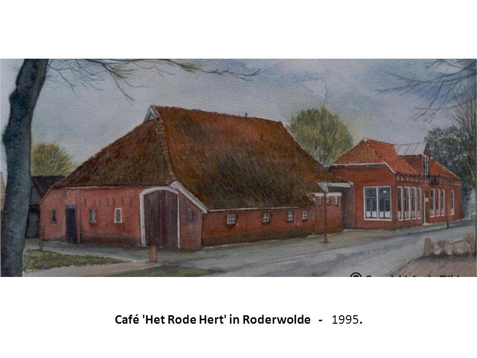 Café Het Rode Hert in Roderwolde - 1995.