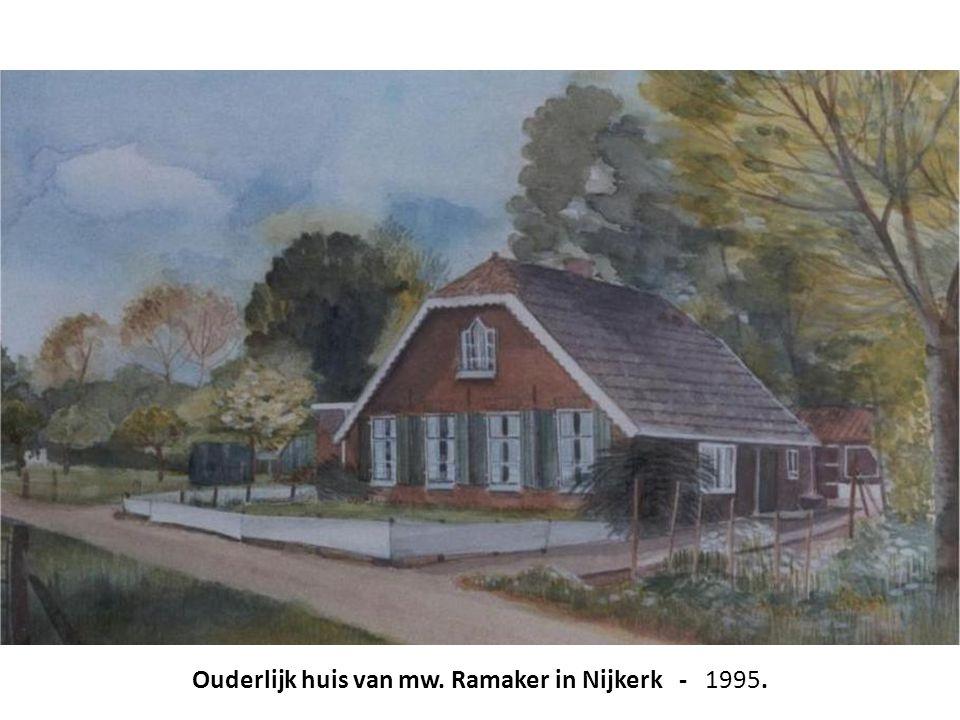 Ouderlijk huis van mw. Ramaker in Nijkerk - 1995.