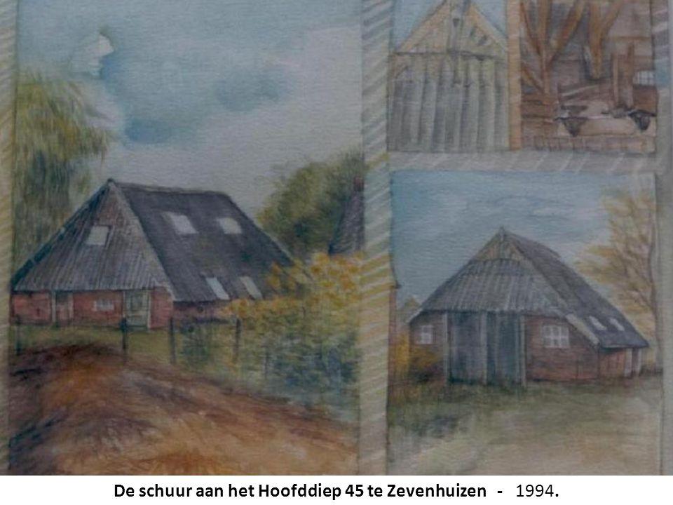 De schuur aan het Hoofddiep 45 te Zevenhuizen - 1994.
