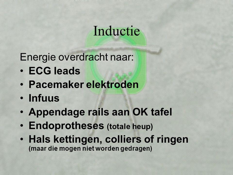 Inductie Draad Stroom Veldlijnen Inducties troom Naast elkaar liggende geleiders versterken de veldlijnen.