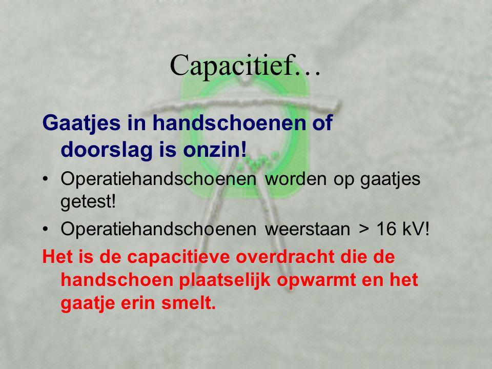 Capacitief… Is de ohmse weerstand hoog, dan is de capacitieve overdracht groot en omgekeerd… De fasehoek geeft weer welke verhouding er is tussen capa