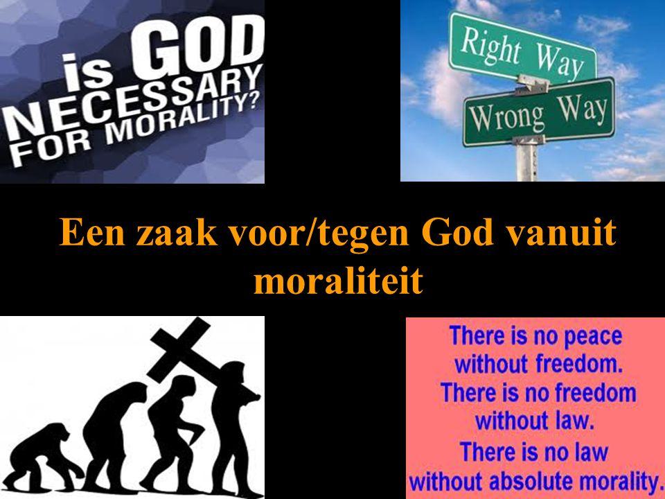 Een zaak voor/tegen God vanuit moraliteit