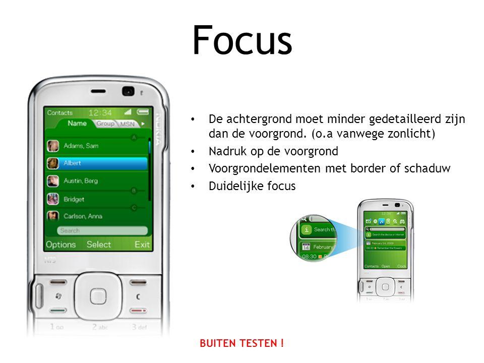 Focus • De achtergrond moet minder gedetailleerd zijn dan de voorgrond.