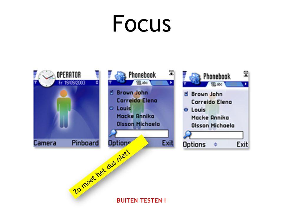 Focus BUITEN TESTEN ! Zo moet het dus niet!