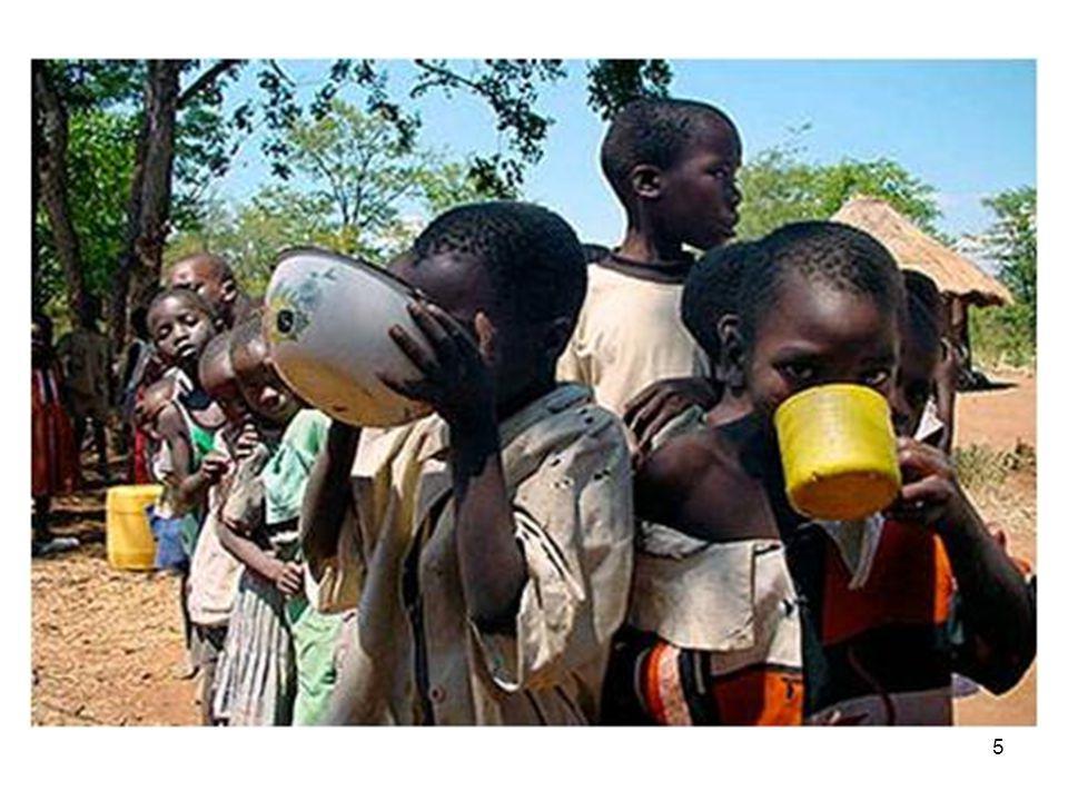 4 •1.1 miljard mensen leven van US $ 1 per dag •2.7 miljard mensen leven van US $ 2 per dag