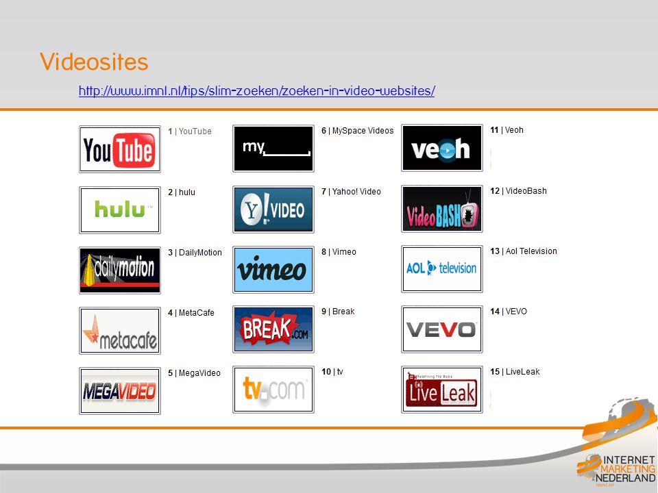 http://www.imnl.nl/tips/slim-zoeken/zoeken-in-video-websites/ Videosites