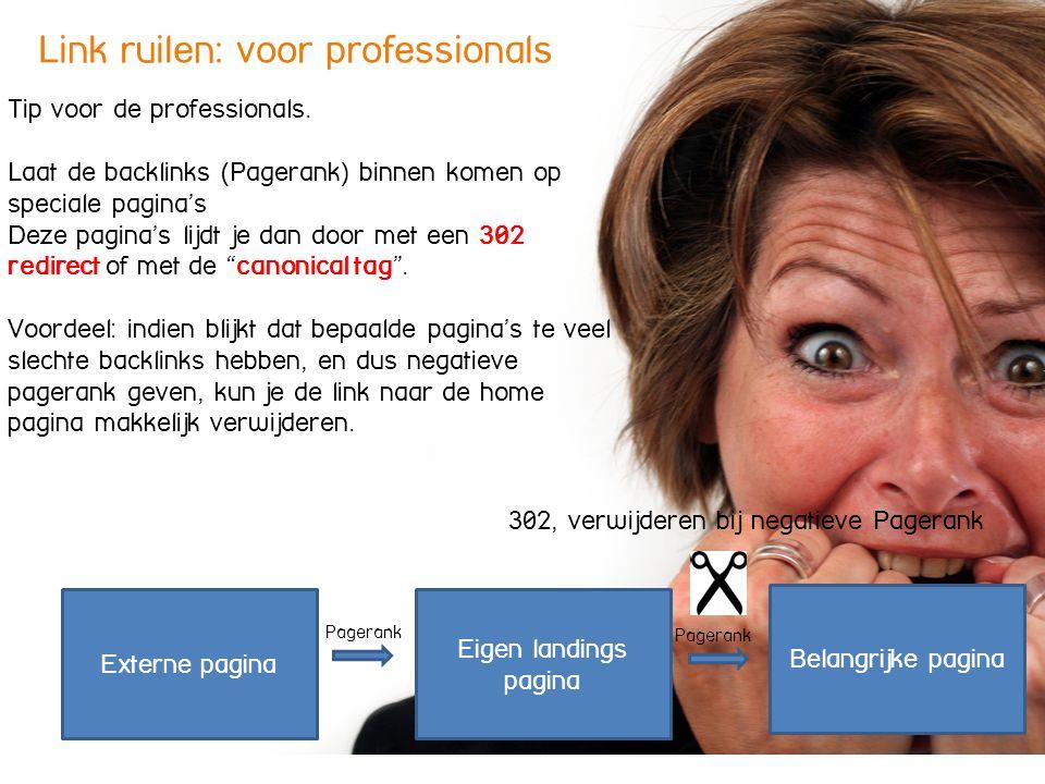 Link ruilen: voor professionals Tip voor de professionals.