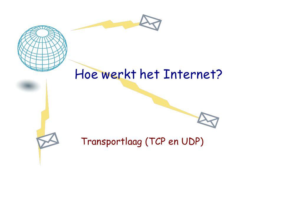 Hoe werkt het Internet? Transportlaag (TCP en UDP)