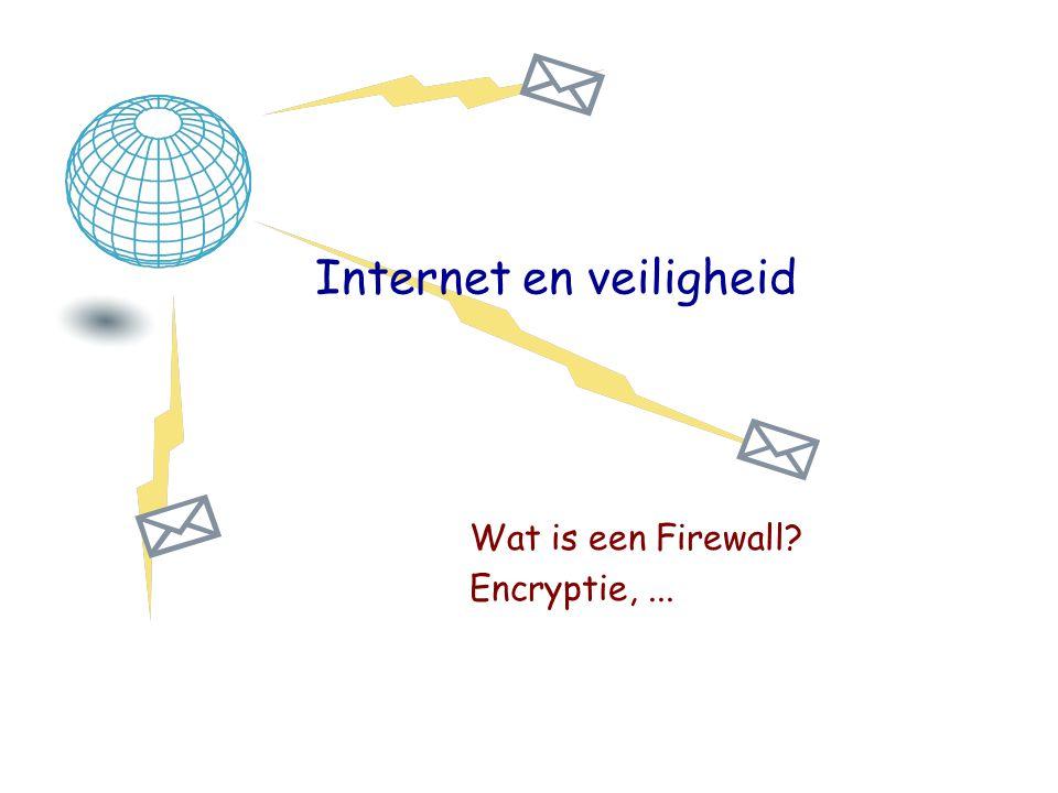 Internet en veiligheid Wat is een Firewall? Encryptie,...