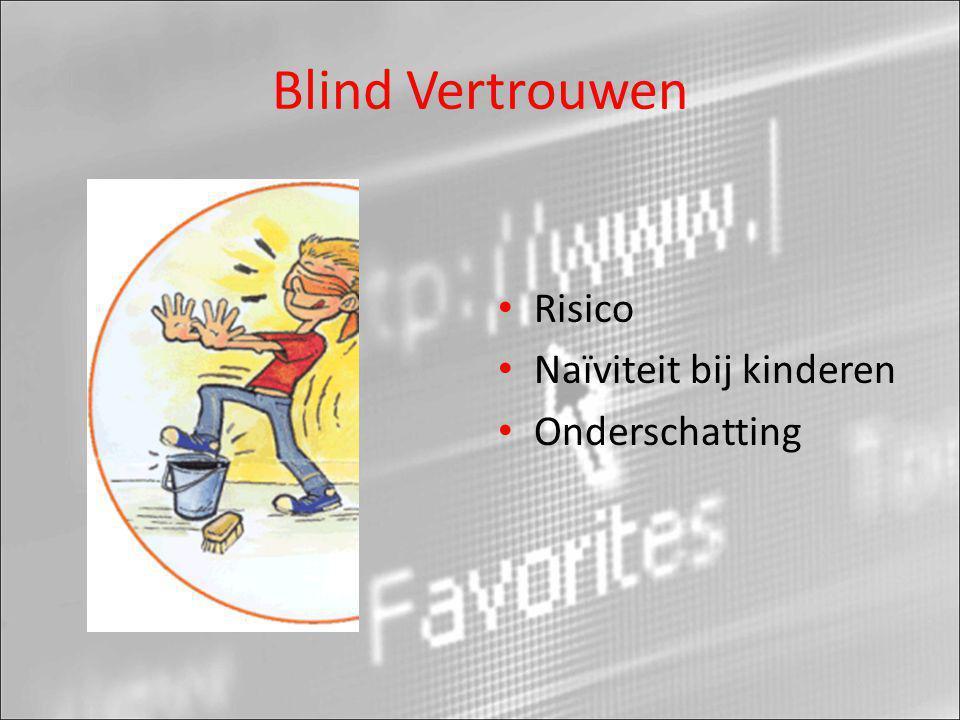 Blind Vertrouwen • Risico • Naïviteit bij kinderen • Onderschatting