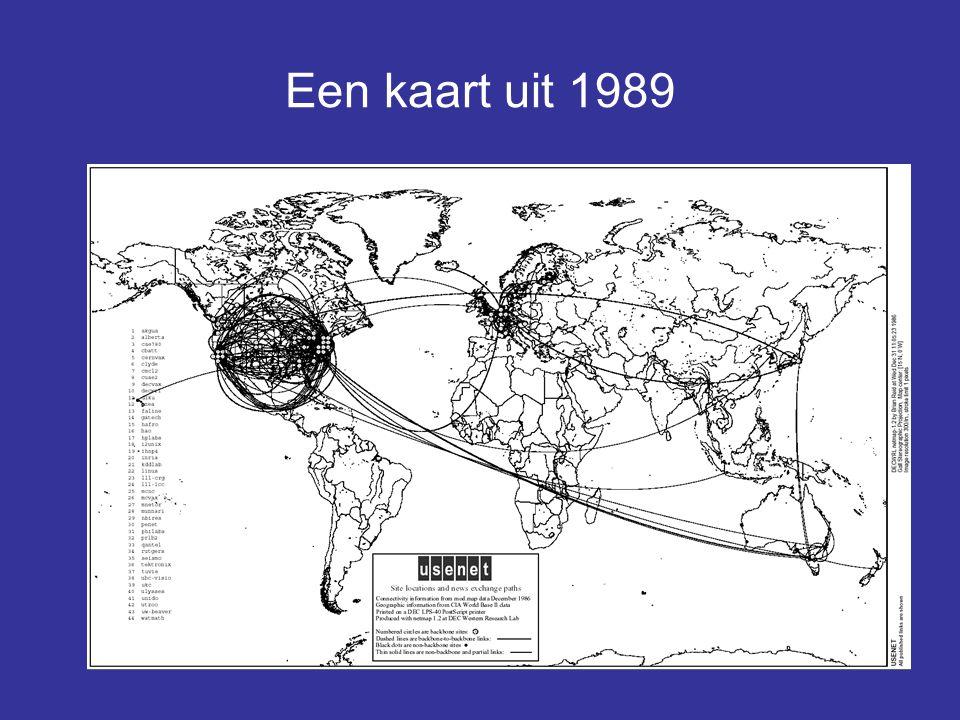 Een kaart uit 1989