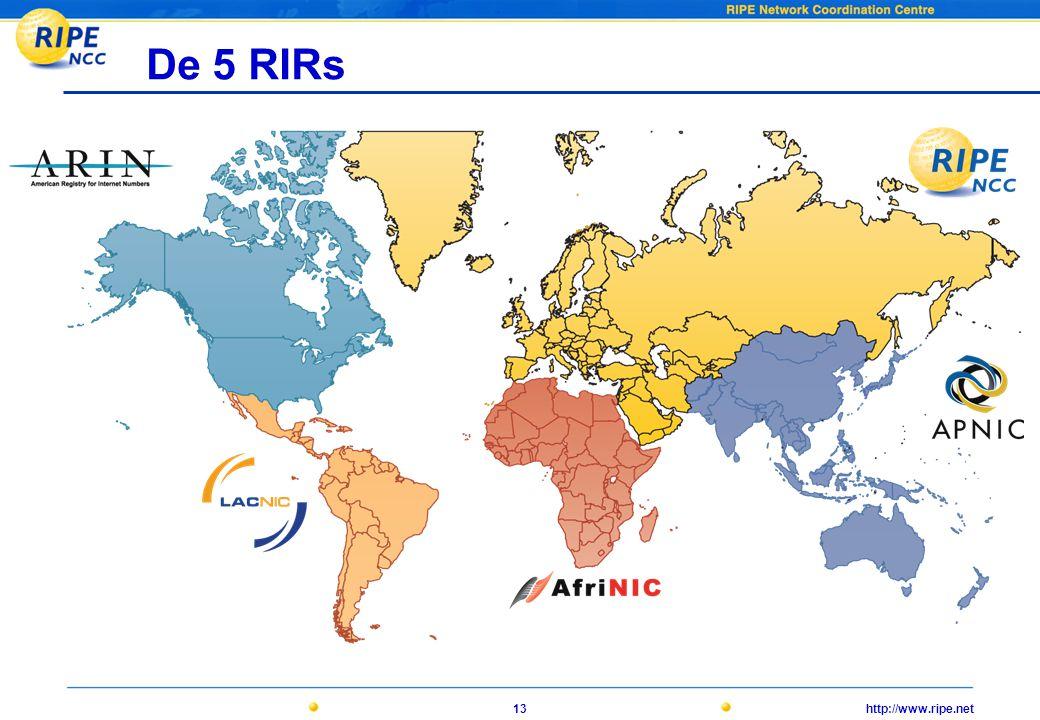 http://www.ripe.net13 De 5 RIRs