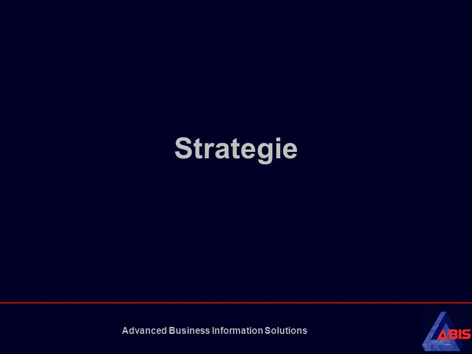Advanced Business Information Solutions Agenda •Strategie •Strategieformulering •Analyse –niveau –technieken •Case: Boo.com •Beslissingen •Implementatie •Feedback / Evaluatie
