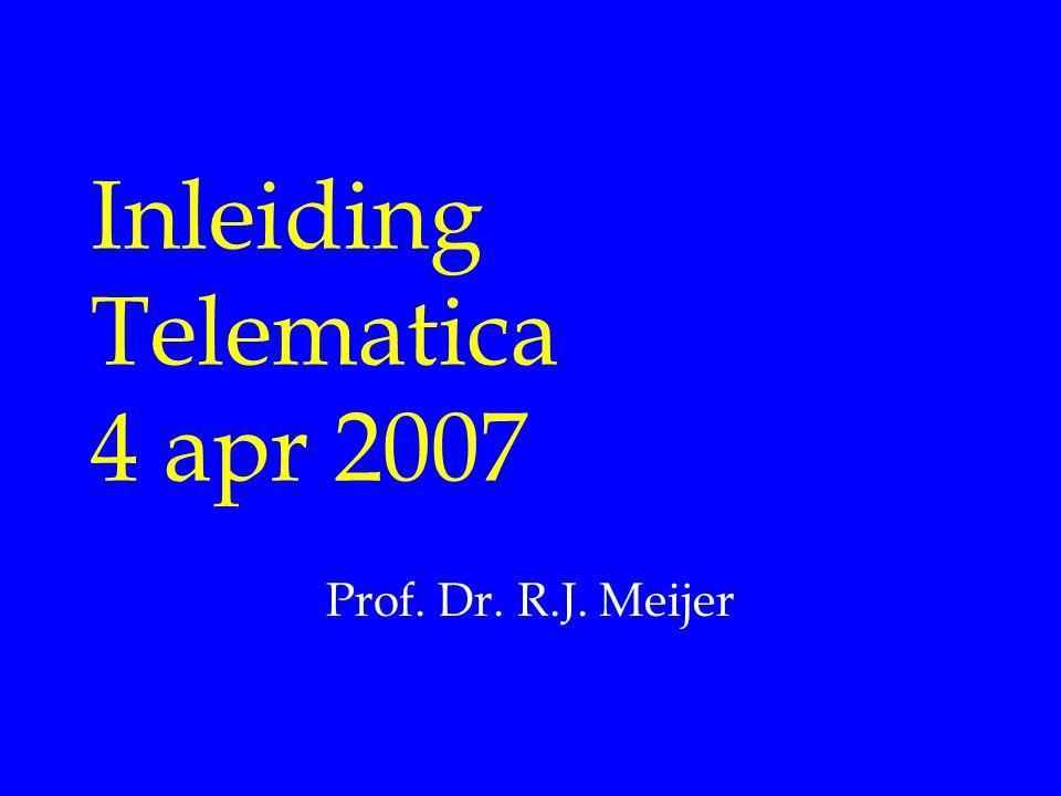 Inleiding Telematica 4 apr 2007 Prof. Dr. R.J. Meijer